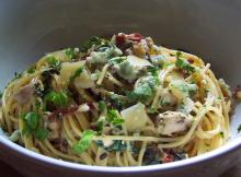 Chicken Gorgonzola and Pancetta Pasta