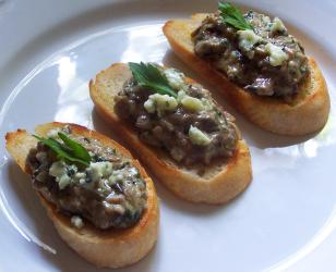 Gorgonzola and Mushroom Duxelle