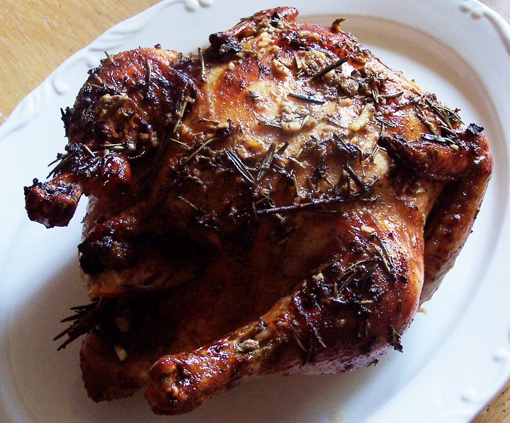Orange Ginger Herb Roast Chicken