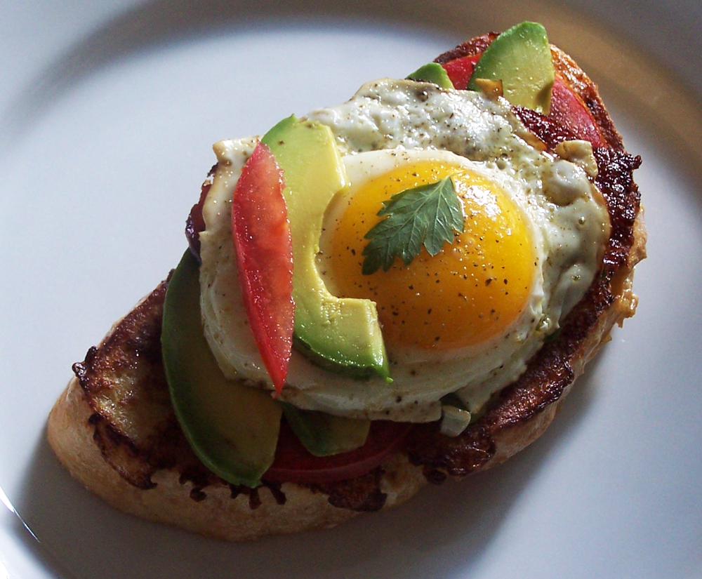 Avocado, Bacon And Tomato Toast Recipe — Dishmaps