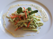 Broccoli Slaw with Carrot Ginger Cilantro and Sesame Seeds