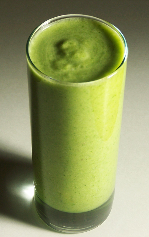 Kale Pineapple Banana Ginger Smoothie with Coconut Milk