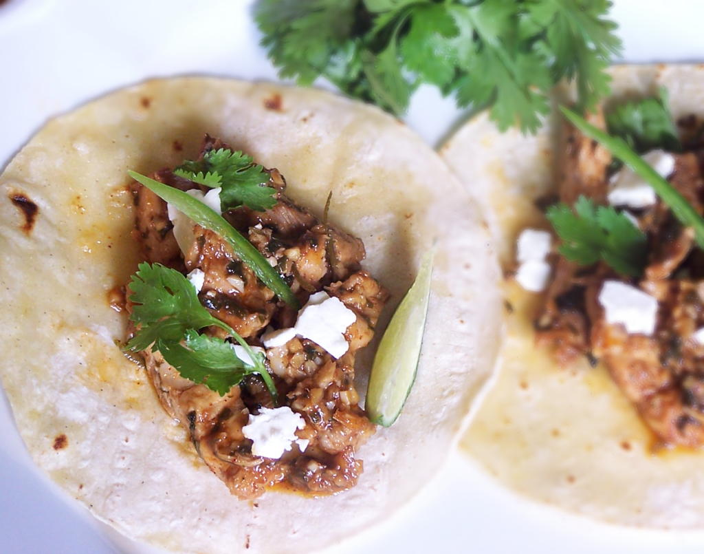 Spicy Lime Chicken Tacos with Queso Fresco