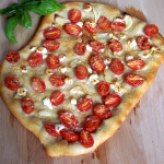 Cherry Tomato Garlic Goat Cheese and Parmesan Pizza