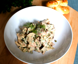 Spicy Dill Chicken Salad with Capers