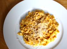 Butternut Squash and Mascarpone Fettucine