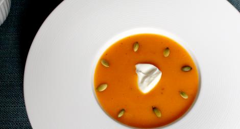 Butternut Squash Soup with Pumpkin Seeds