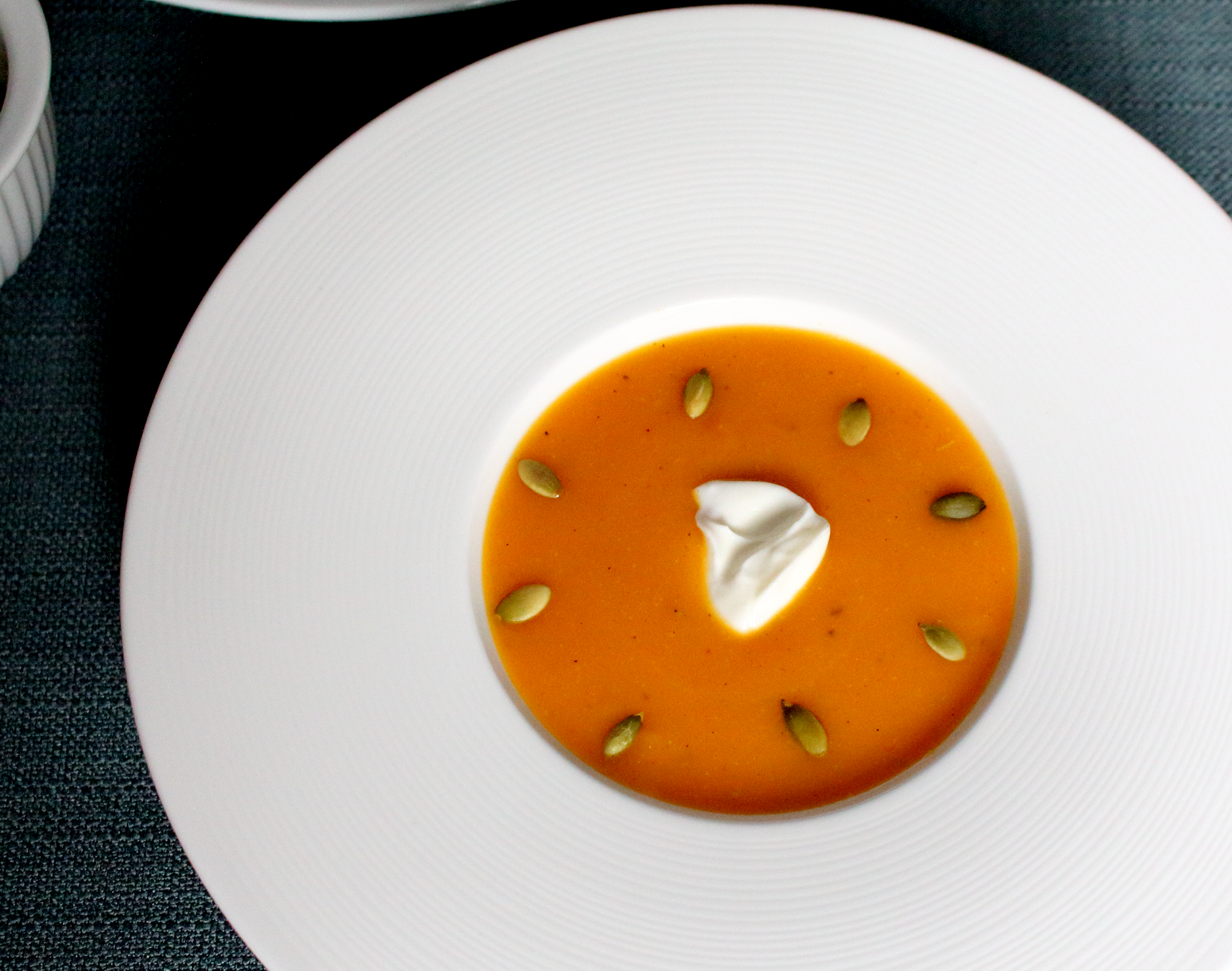 Butternut Squash Soup with Pumpkin Seeds - Epicure's Table