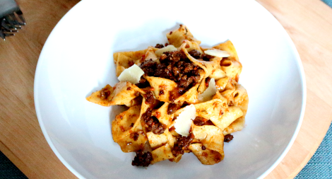 Tagliatelle with 30 Minute Meat Sauce