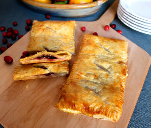 Turkey Cheese and Cranberry Puff Pastry