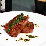 Salt-drawn Sirloin with Parsley Balsamic Chimichurri