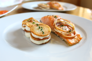 Baked Salmon and Potatoes Two Ways
