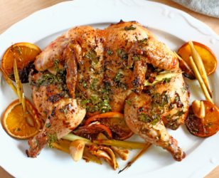 Orange and Garlic Roast Chicken