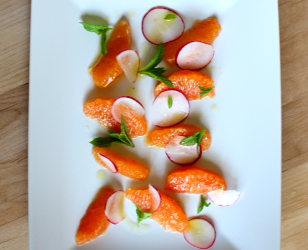 Orange Radish and Mint Salad