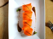 Carrot Salad with Raisin and Roast Garlic Herb Vinaigrette