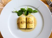 Chevre Mushroom and Garlic Stuffed Omelette