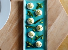 Deviled Eggs with a Green Bean Salad