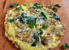 Potato and Kale Frittata with Smoked Gouda