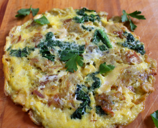 Potato and Kale Frittata with Smoked Gouda