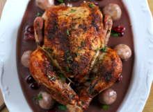 Roast Chicken With Cranberries