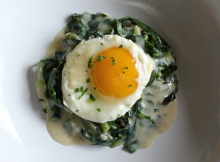 Creamy Cabbage with an Egg