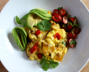 Migas with a Cherry Tomato Salsa Fresca