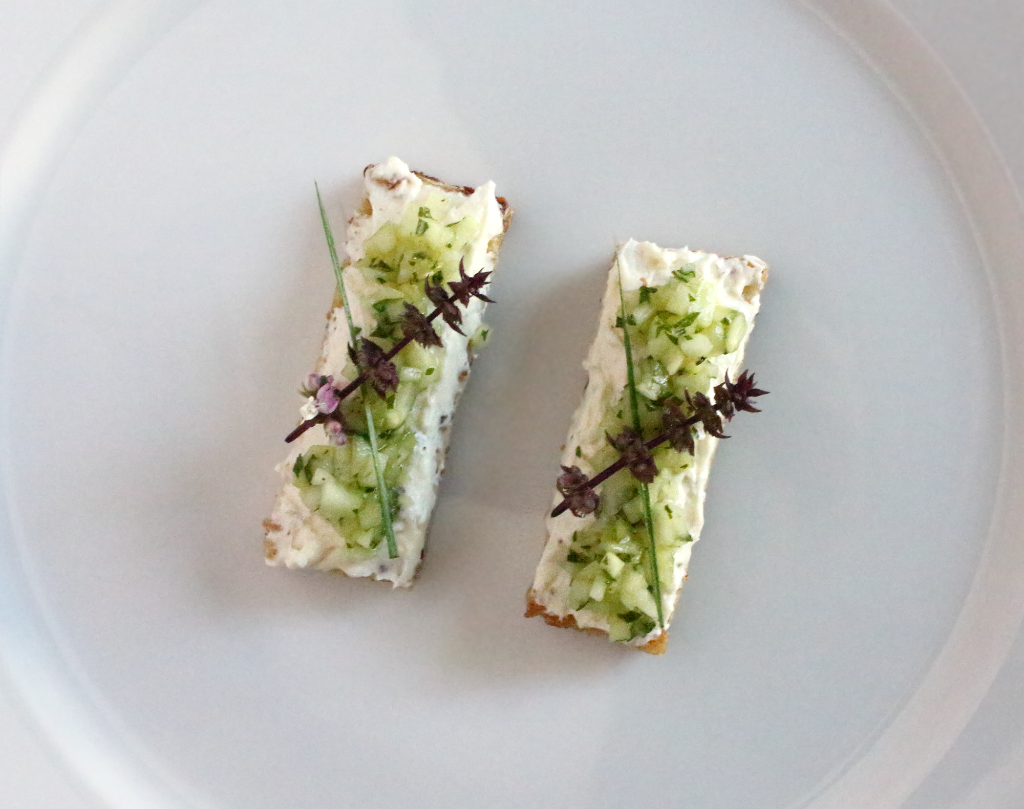 Cucumber and Goat Cheese Toast