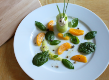 Cucumber Orange and Spinach Salad