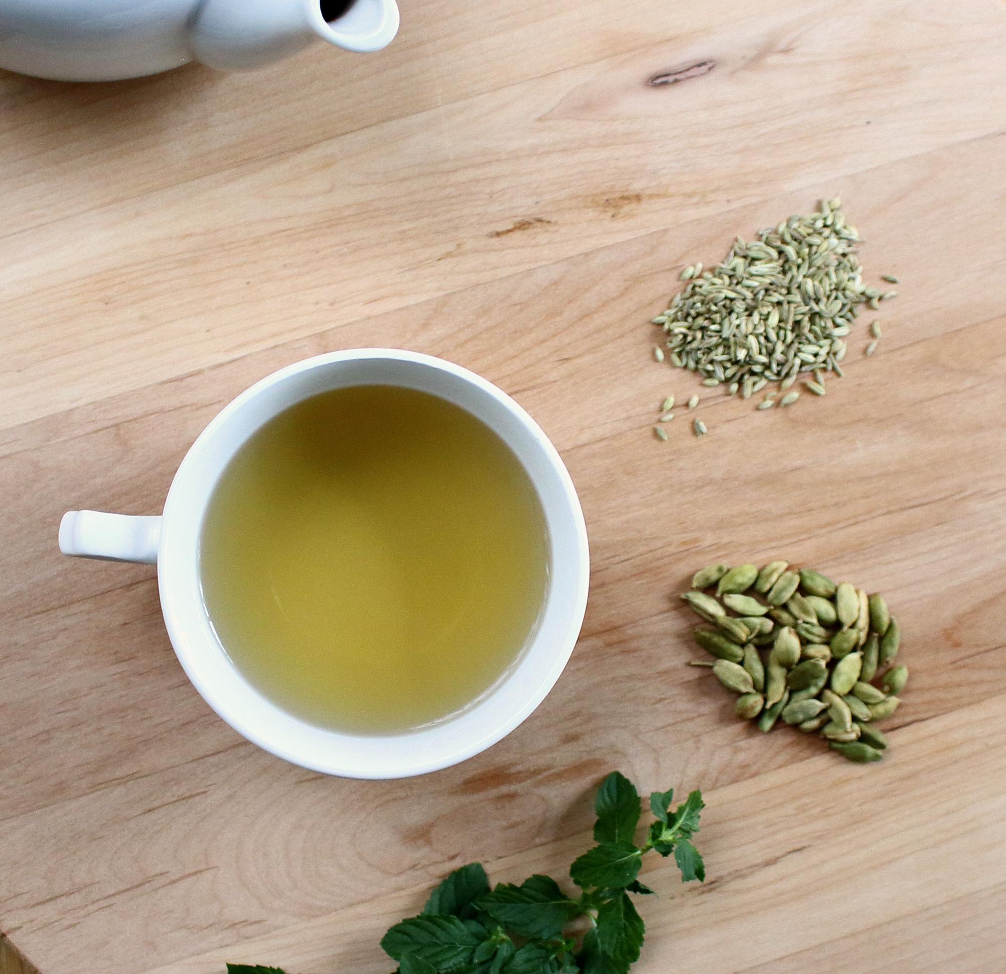 Fennel Mint and Cardamom Tea