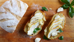 Pear and Cheese Open-Faced Sandwich
